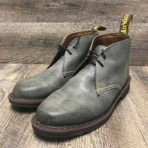 Dr. Martens Men's Gray Leather Chukka Boot